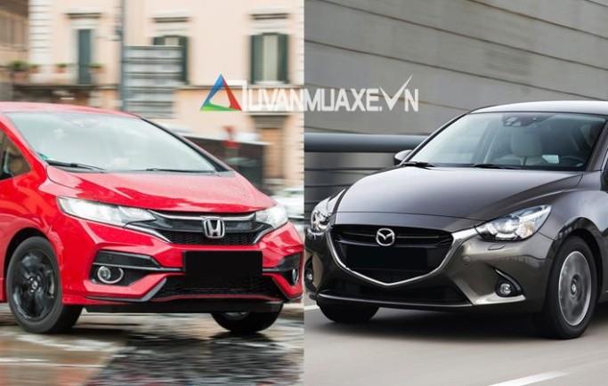 So sánh xe Mazda 2 2018 và Honda Jazz 2018